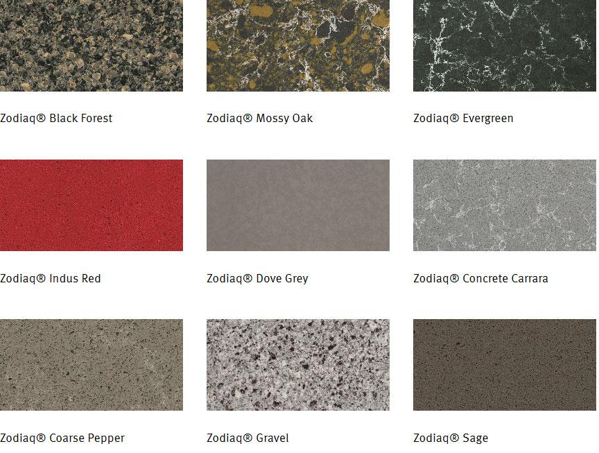 Old Fashioned Zodiaq Countertop Colors Crest   Best Interior Design .